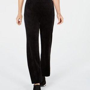 Karen Scott Velour Pull-On Pants